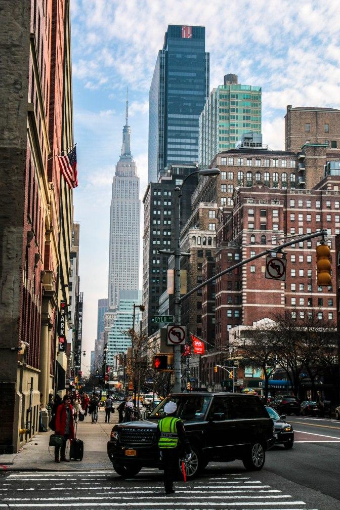 Zicht op het Empire State Building