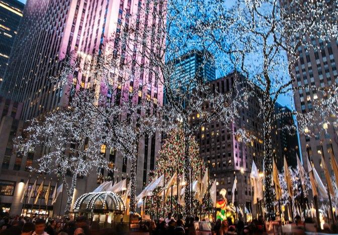 De kerstboom op Rockefeller Plaza