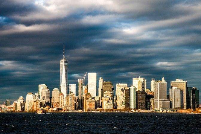 Skyline New York vanaf ferry Staten Island