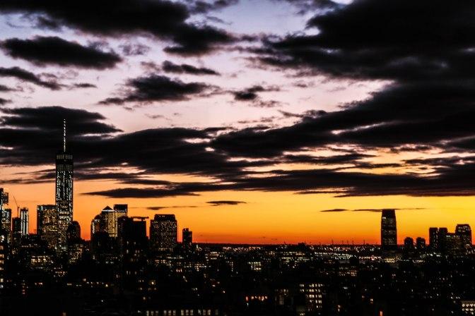 Uitzicht vanaf Roof Top Terrace op New Jersey